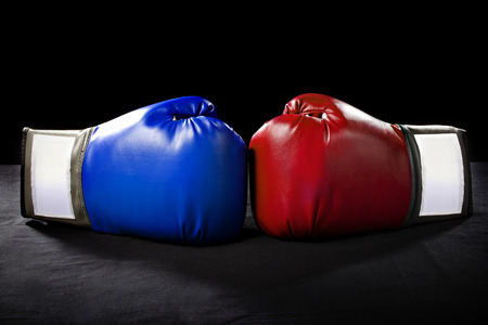 Foto de boxing gloves or martial arts gear on a black background - Imagen libre de derechos