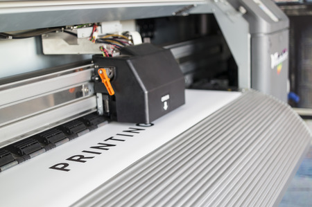 Photo pour Ecosolvent printer - image libre de droit