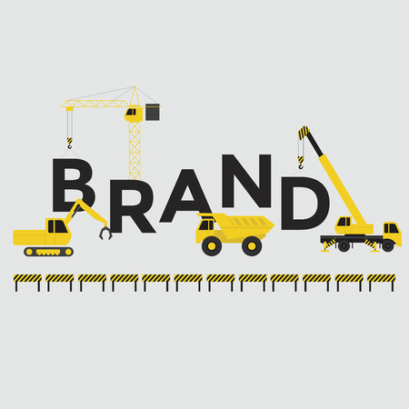 Illustration pour Engineering building text Brand Vector - image libre de droit