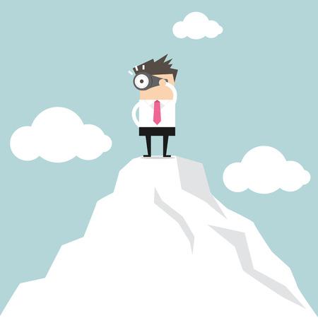 Ilustración de Businessman looking for success vector - Imagen libre de derechos
