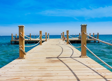 Photo for Pier in Heavenly Blue Place  - Royalty Free Image