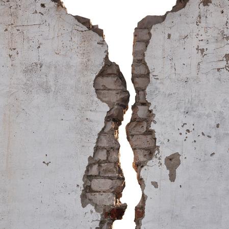 Foto de black and white cracked wall texture  - Imagen libre de derechos