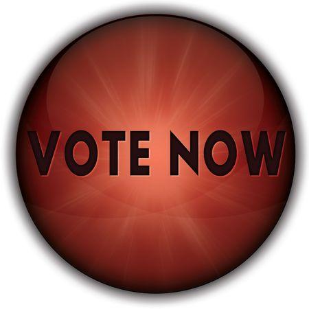 Foto de VOTE NOW red button badge. Illustration image concept - Imagen libre de derechos