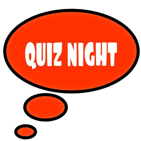 Photo for Orange thought bubble with QUIZ NIGHT text message. Illustration - Royalty Free Image