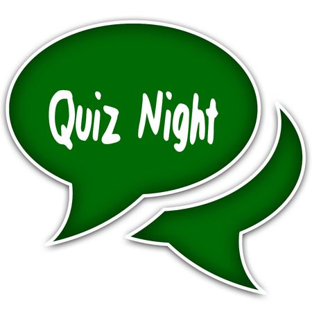 Photo for Green speech balloons with QUIZ NIGHT text message. Illustration - Royalty Free Image