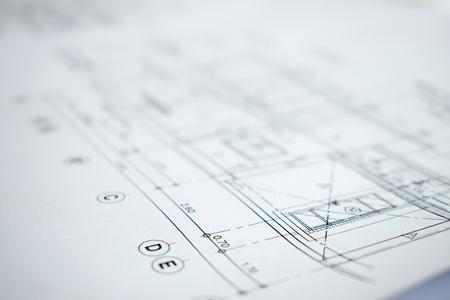 Foto de Close up picture of construction planning and design. - Imagen libre de derechos