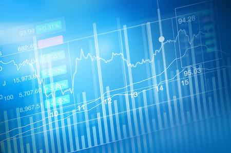 Photo pour stock market investment trading, candle stick graph chart, trend of graph, Bullish point, Bearish point, soft and blur - image libre de droit