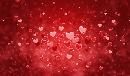 Photo pour Hearts shape of a Valentine's day background - image libre de droit