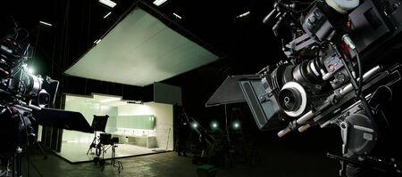 Foto de Behind the scenes of making of movie and TV commercial. - Imagen libre de derechos