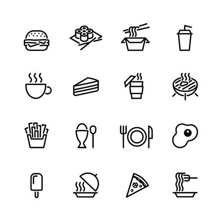 Ilustración de food icon set - Imagen libre de derechos