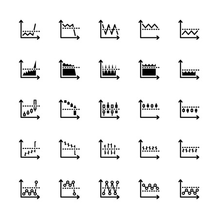 Illustration pour twenty five black outline market icons isolated on white - image libre de droit