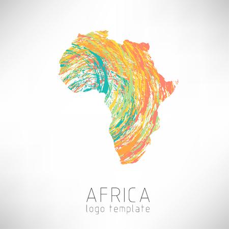 Illustration pour Africa creative designed silhouette map. Africa continent silhouette - image libre de droit