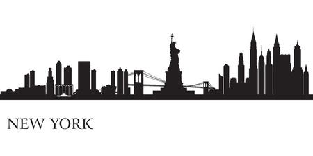 Illustration for New York city skyline silhouette background  Vector illustration                             - Royalty Free Image