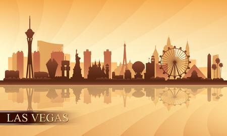Illustration pour Las Vegas city skyline silhouette background, vector illustration - image libre de droit
