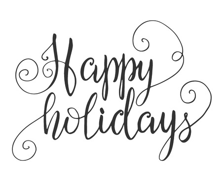 Illustration pour Happy holidays hand lettering - image libre de droit