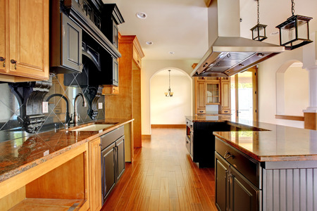 New construction luxury home interior Kitchen with beautiful details