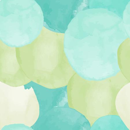 Ilustración de Vector watercolor circles seamless pattern (tiled). Retro hand drawn circles ornament. Round shapes pattern. Round shapes. Painted ornament. Grunge colorful rounds shapes. - Imagen libre de derechos