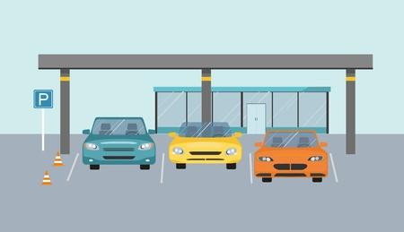 Illustration pour Parking Zone. Parking lot design. Park icon. Conceptual Vector Illustration - image libre de droit