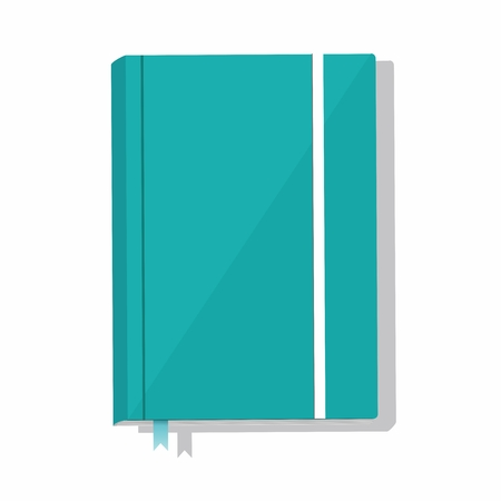 Illustration for Blue note book isolated on white background. Vector Illustration - Royalty Free Image