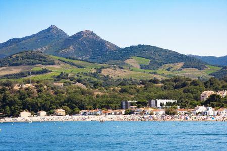 Foto de Argeles-sur-Mer in Pyrenees-Orientales department, Languedoc-Roussillon region, in southern France - Imagen libre de derechos