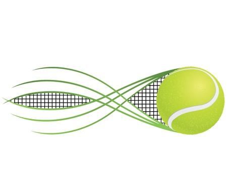 Tennis emblem and symbols isolated on white background.