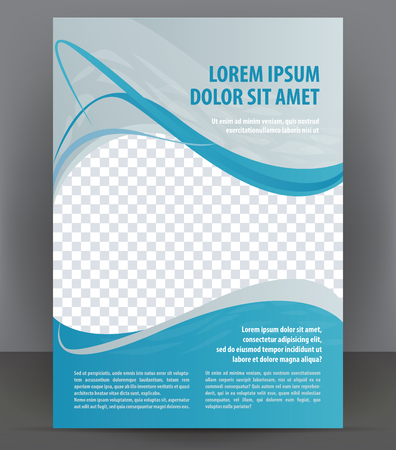 Illustration pour Magazine, flyer, brochure and cover layout design template, vector Illustration - image libre de droit
