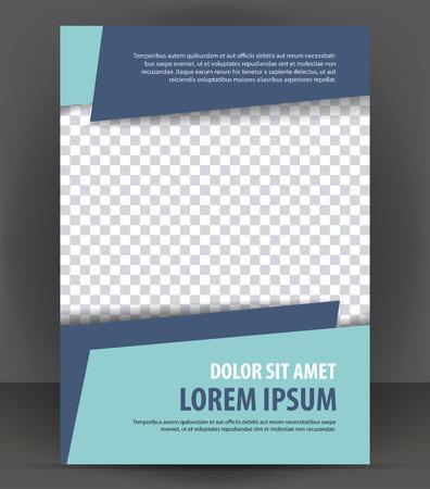 Illustration pour Magazine, flyer, brochure, cover layout design print template - image libre de droit