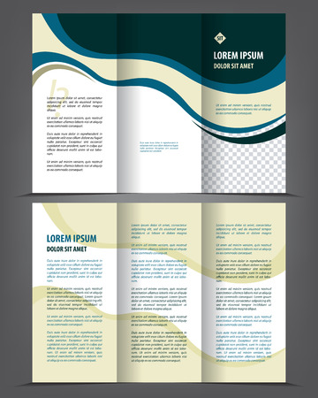 Illustration for Vector empty trifold brochure design print template - Royalty Free Image