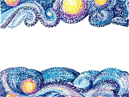 Illustration pour Van Gogh background - image libre de droit