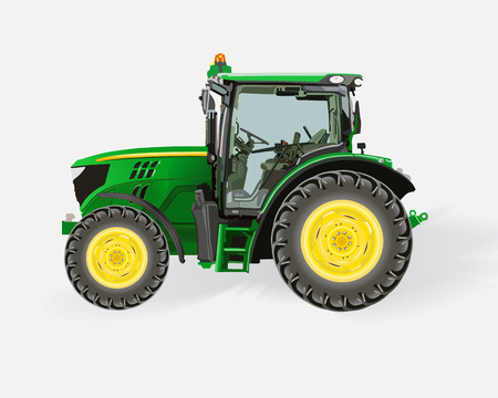 Illustration pour Tractor - image libre de droit