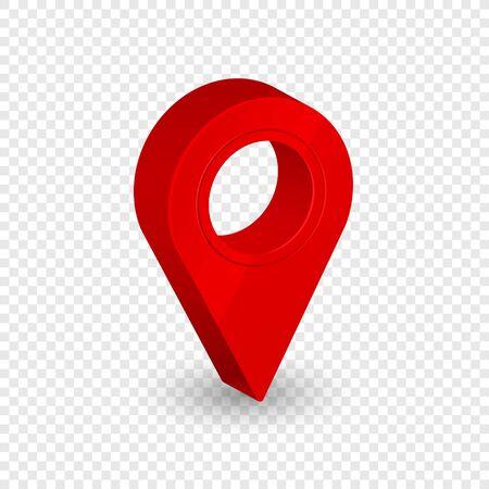Illustration pour Map location pointer 3d arrow. Navigation icon for web, banner, logo or badge. Vector Illustration. - image libre de droit