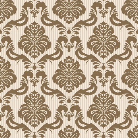 Photo pour Classic wallpaper seamless ornamental pattern - image libre de droit