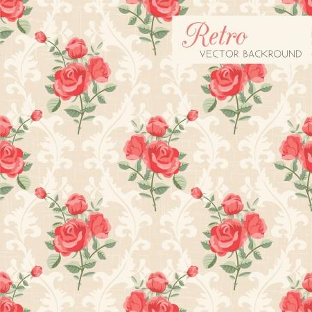 Foto de Rose classic seamless floral pattern - Imagen libre de derechos
