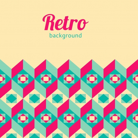 Photo for Retro geometric background - Royalty Free Image