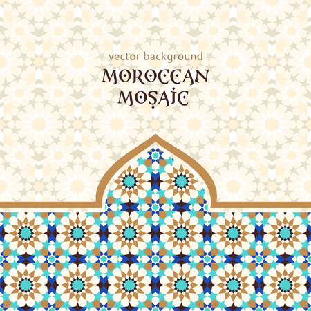 Illustration for Moroccan mosaic background - Royalty Free Image