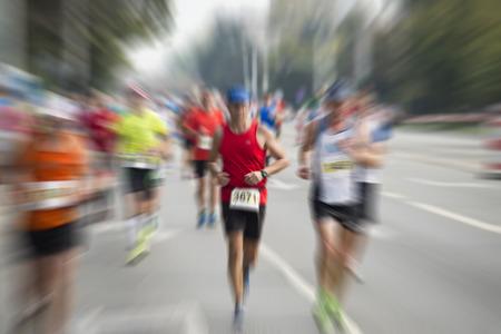 Photo pour international marathon runner - image libre de droit