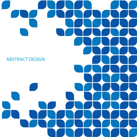Illustration for Blue abstract design - Royalty Free Image