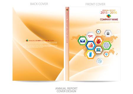Ilustración de Annual report cover design - Imagen libre de derechos