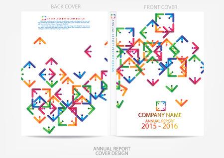 Illustration pour Annual report cover design - image libre de droit