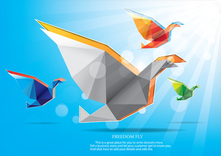 Illustration for Freedom fly - Royalty Free Image