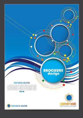 Illustration pour Brochure template design - image libre de droit