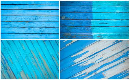 Foto de Set of different blue n textures - Imagen libre de derechos