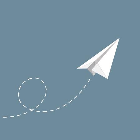 Illustration pour vector illustration of Paper plane - image libre de droit