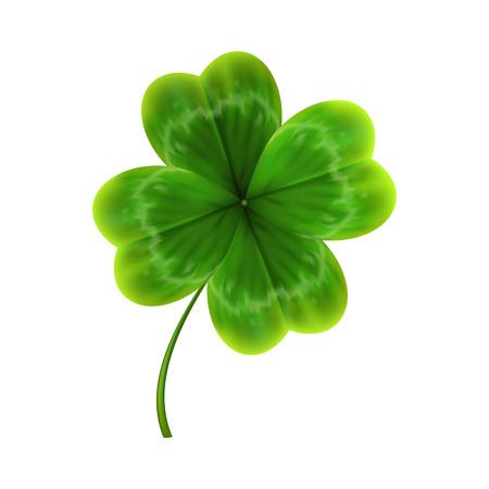 Illustration pour green leave of clover. realistic 3d vector illustration - image libre de droit