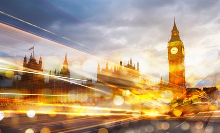 Foto de London sunset. Big Ben and houses of Parliament - Imagen libre de derechos