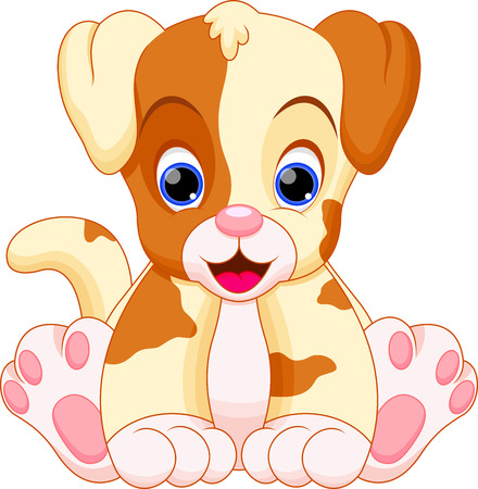 Photo pour puppy is cute and adorable - image libre de droit
