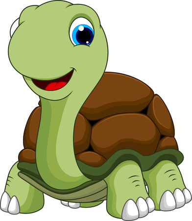 Photo pour Cute turtle cartoon  - image libre de droit