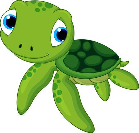 Ilustración de baby sea turtle cartoon  - Imagen libre de derechos