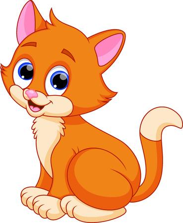 Ilustración de Funny cat cartoon - Imagen libre de derechos