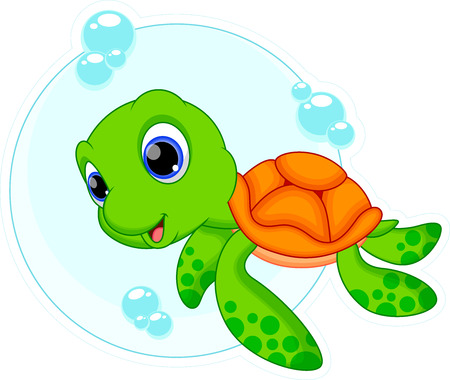 Photo for Cute turtle cartoon - Royalty Free Image